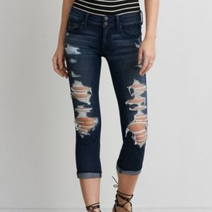 American Eagle Artist Straight Crop jeans!